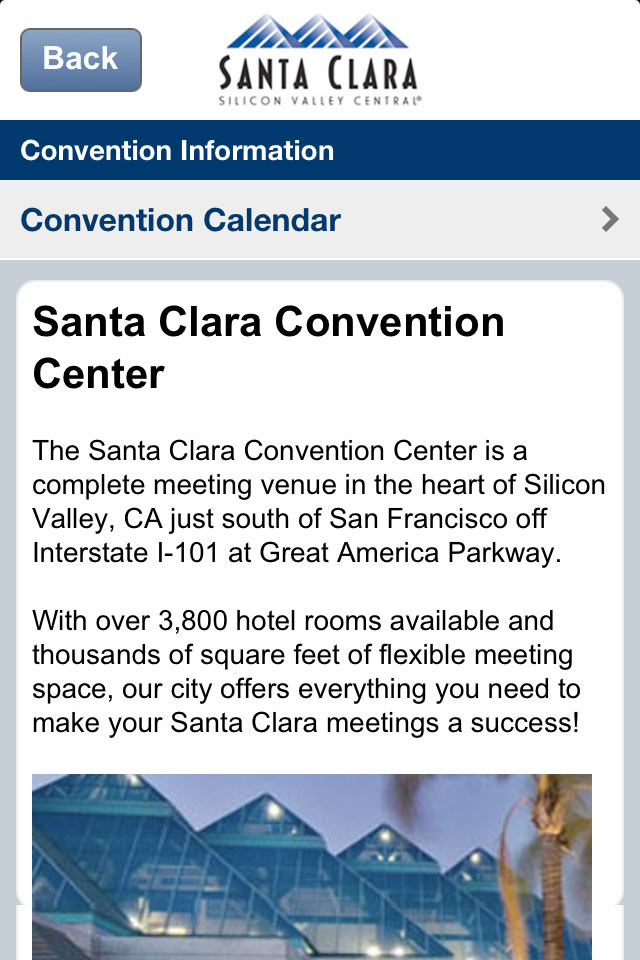 Image of Visit Santa Clara for iPhone